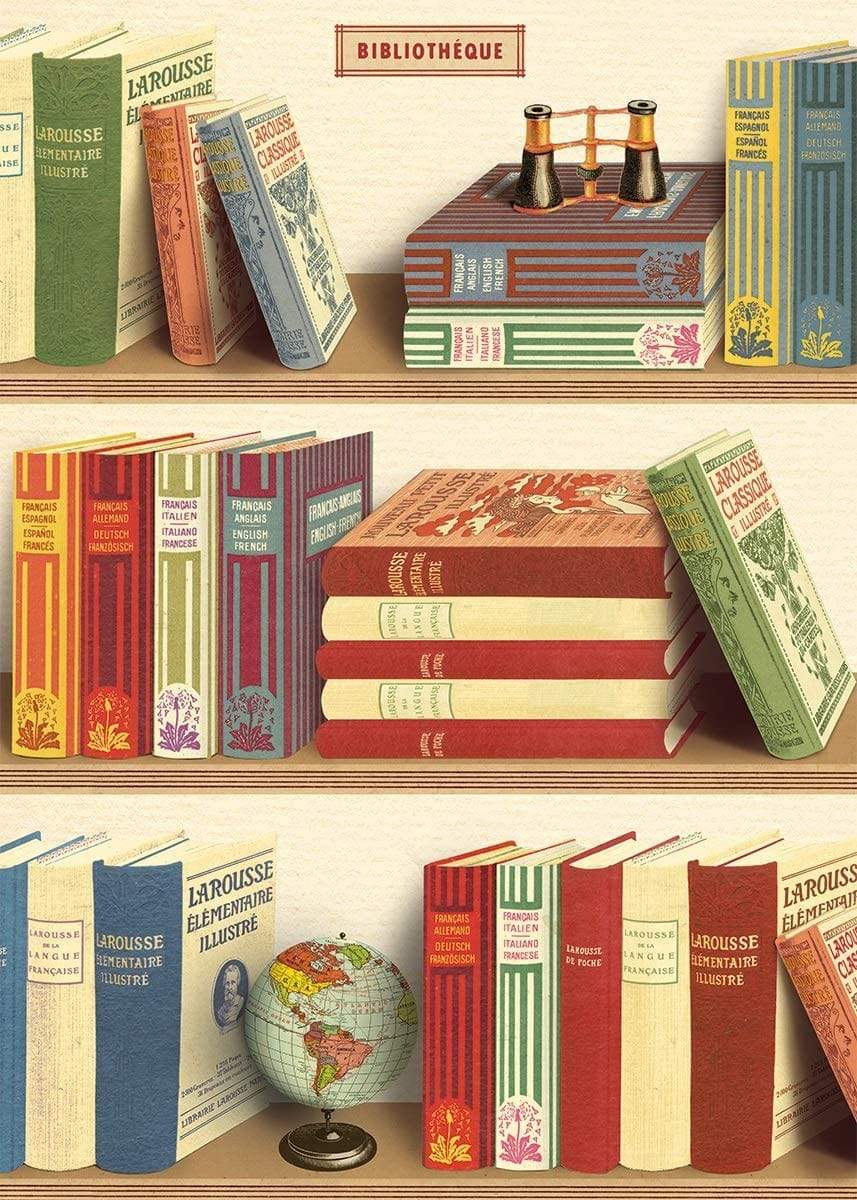 Bibliotheque (Library Books) Art Paper Cavallini Papers Wall Decor