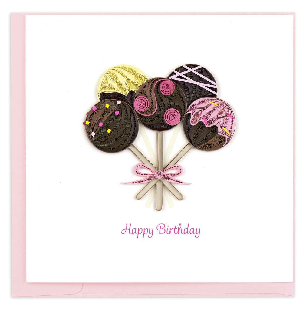 Birthday Cake Pops Card Quilling Card Llc Cards