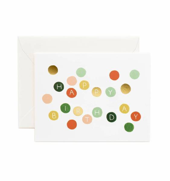 Birthday Dots Card Rifle Paper Co Cards