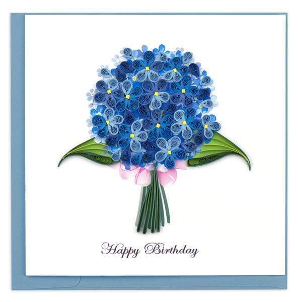 Birthday Hydrangea Quilling Card Quilling Card Llc Cards