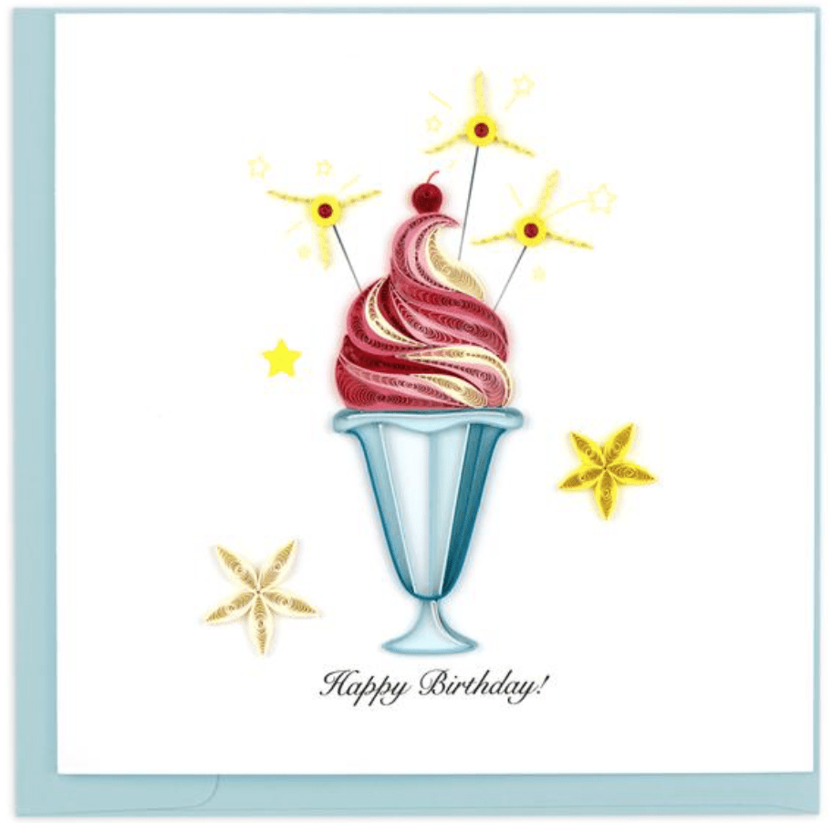 Birthday Sundae Quilling Card Quilling Card Llc Cards