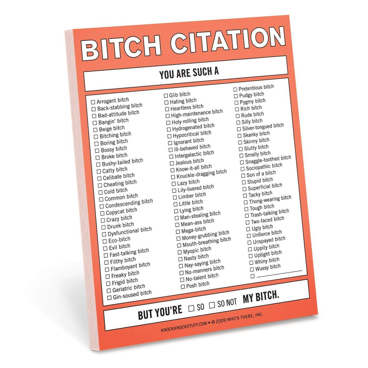 Bitch Citation Nifty Notes Knock Knock Paper Goods