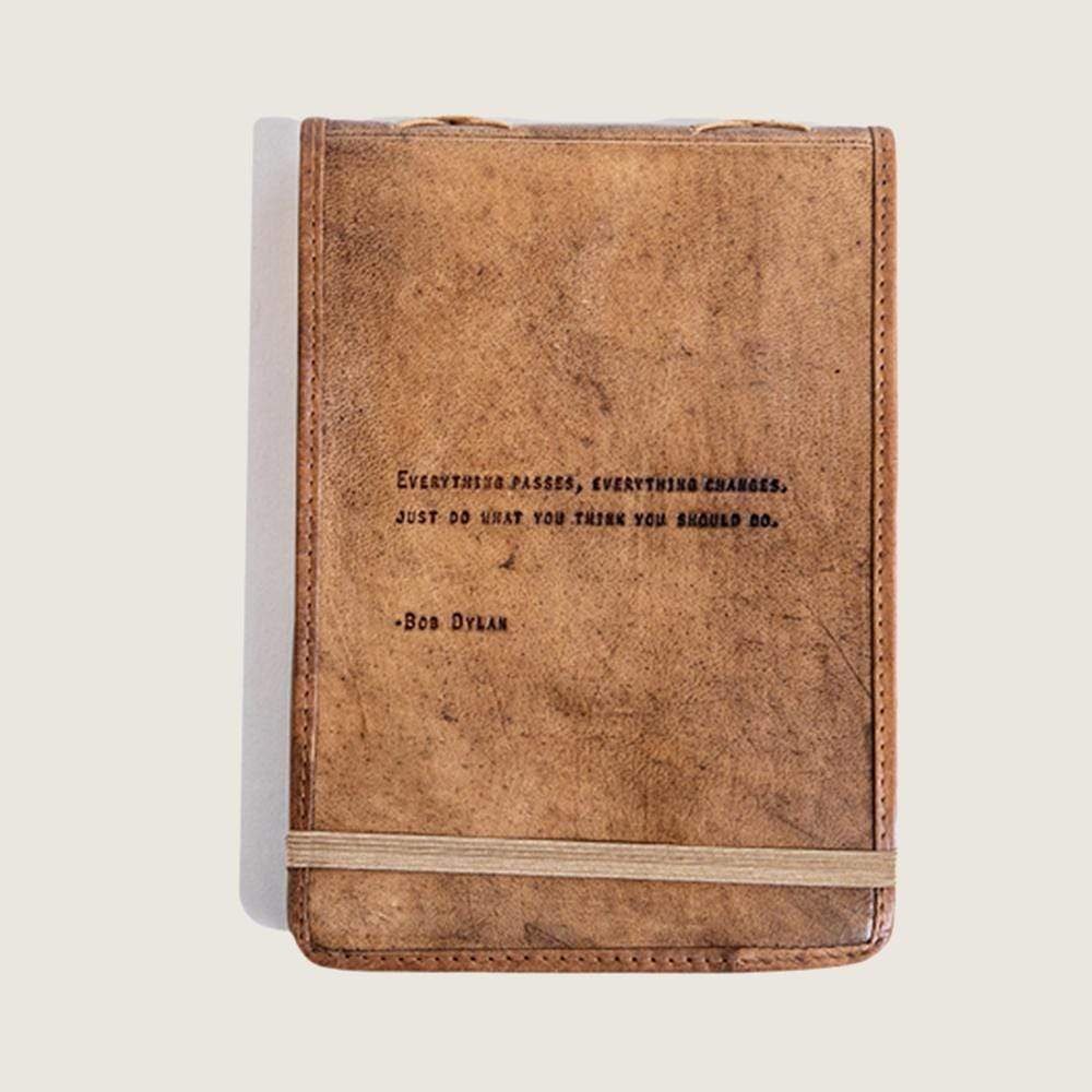 Bob Dylan Leather Journal Sugarboo & Co Paper Goods
