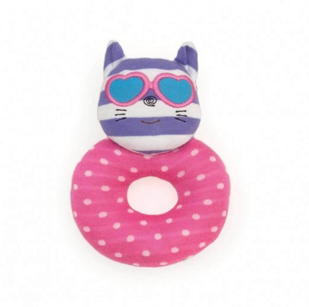Catnap Kitty Teething Rattle Apple Park Baby
