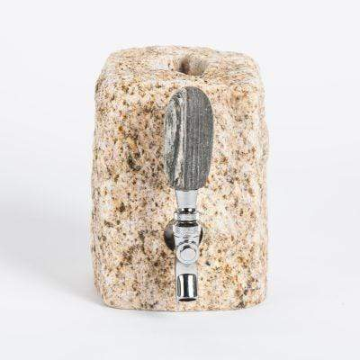 Cobbled Granite Booze Dispenser - Tan Funky Rock Designs Household Stuff