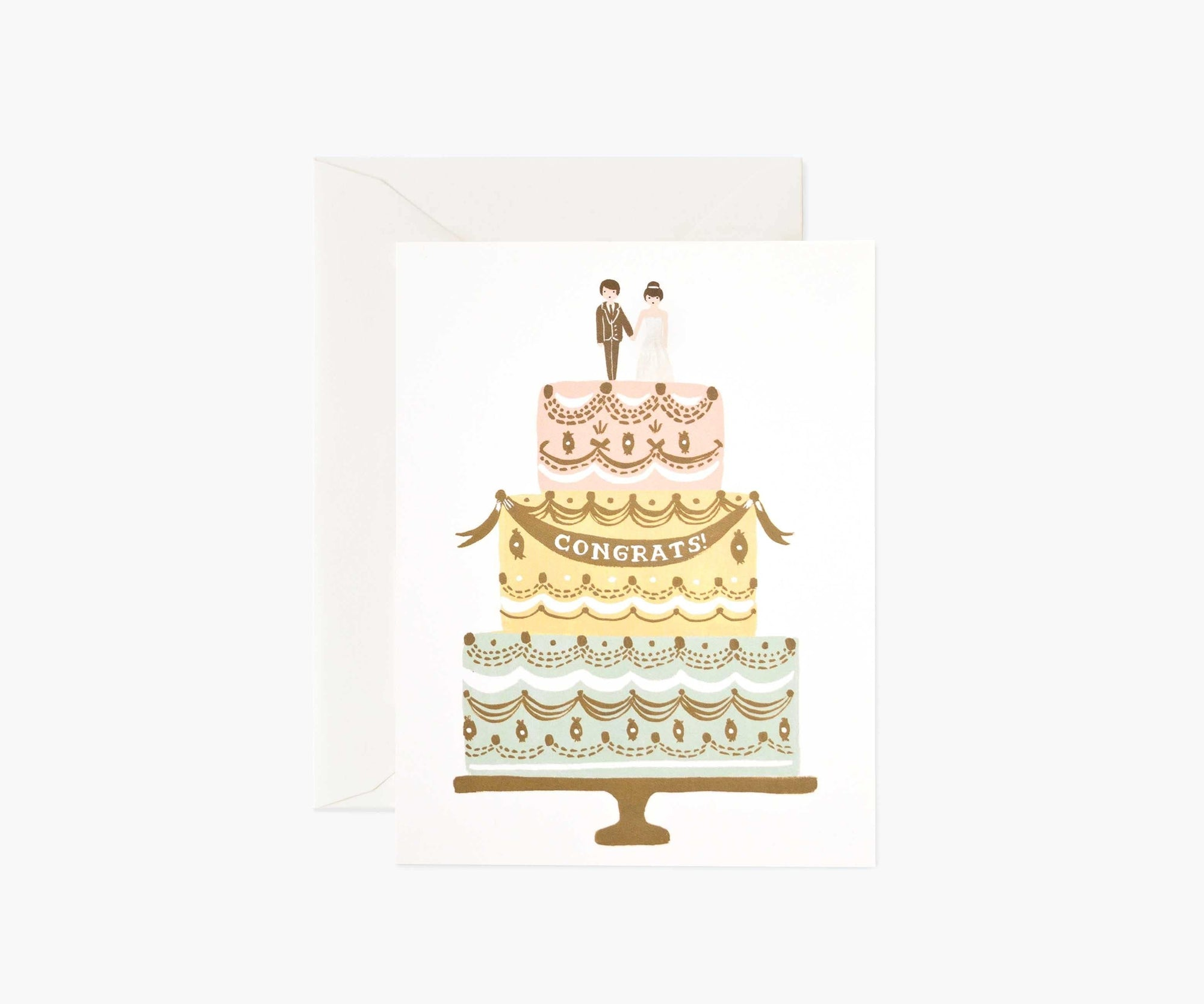 Congrats Wedding Cake Card Rifle Paper Co Cards