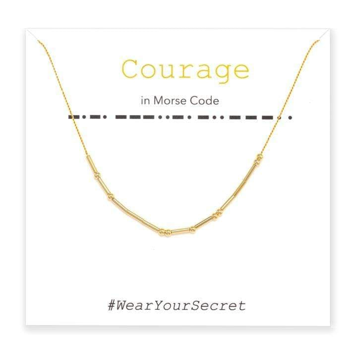 COURAGE Wear Your Secret Necklace Little Be Designs - Wear Your Secret Jewelry