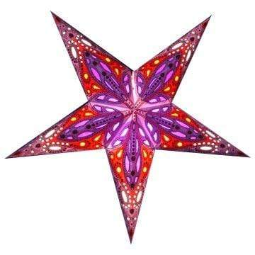 Cyclone Hanging Star Lantern-Purple Whirled Planet Home Decor