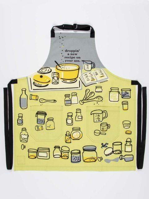 Droppin' A New Recipe Apron Blue Q Household Stuff