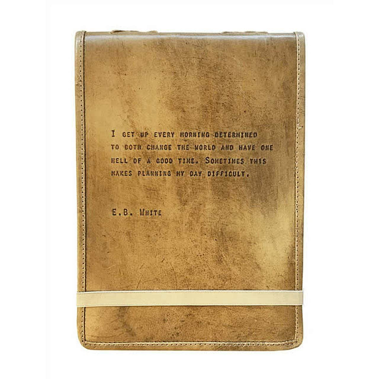 E.B. White Leather Journal Sugarboo & Co Books & Journals