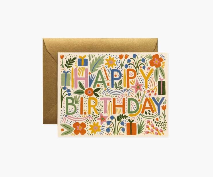 Fiesta Birthday Card Rifle Paper Co Cards
