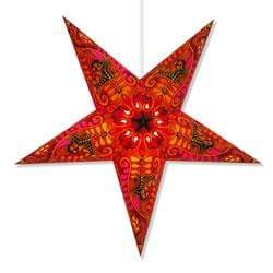 Filigree Hanging Star Lantern - Red Whirled Planet Home Decor