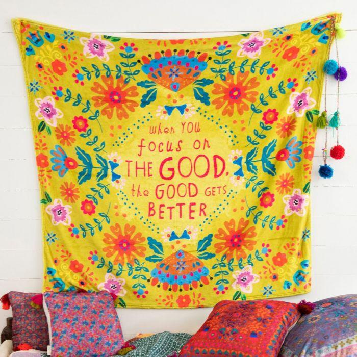 Focus on the Good Tapestry Blanket Natural Life Home Decor