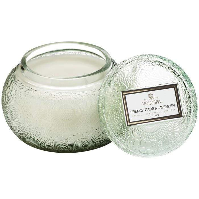 French Cade Lavender Glass Chawan Candle by Voluspa Voluspa Candles & Home Fragrance