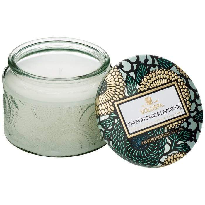 French Cade Lavender Small Glass Jar Candle by Voluspa Voluspa Candles & Home Fragrance