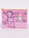 Go Away I'm Introverting - Zipper Pouch Blue Q Accessories