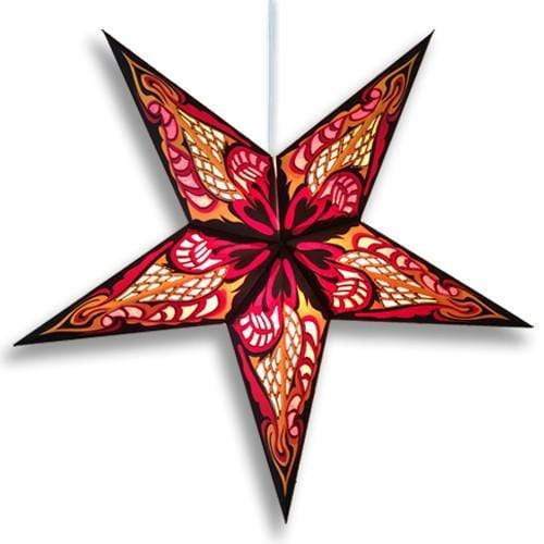 Hydra Hanging Star Lantern - Red Whirled Planet Home Decor