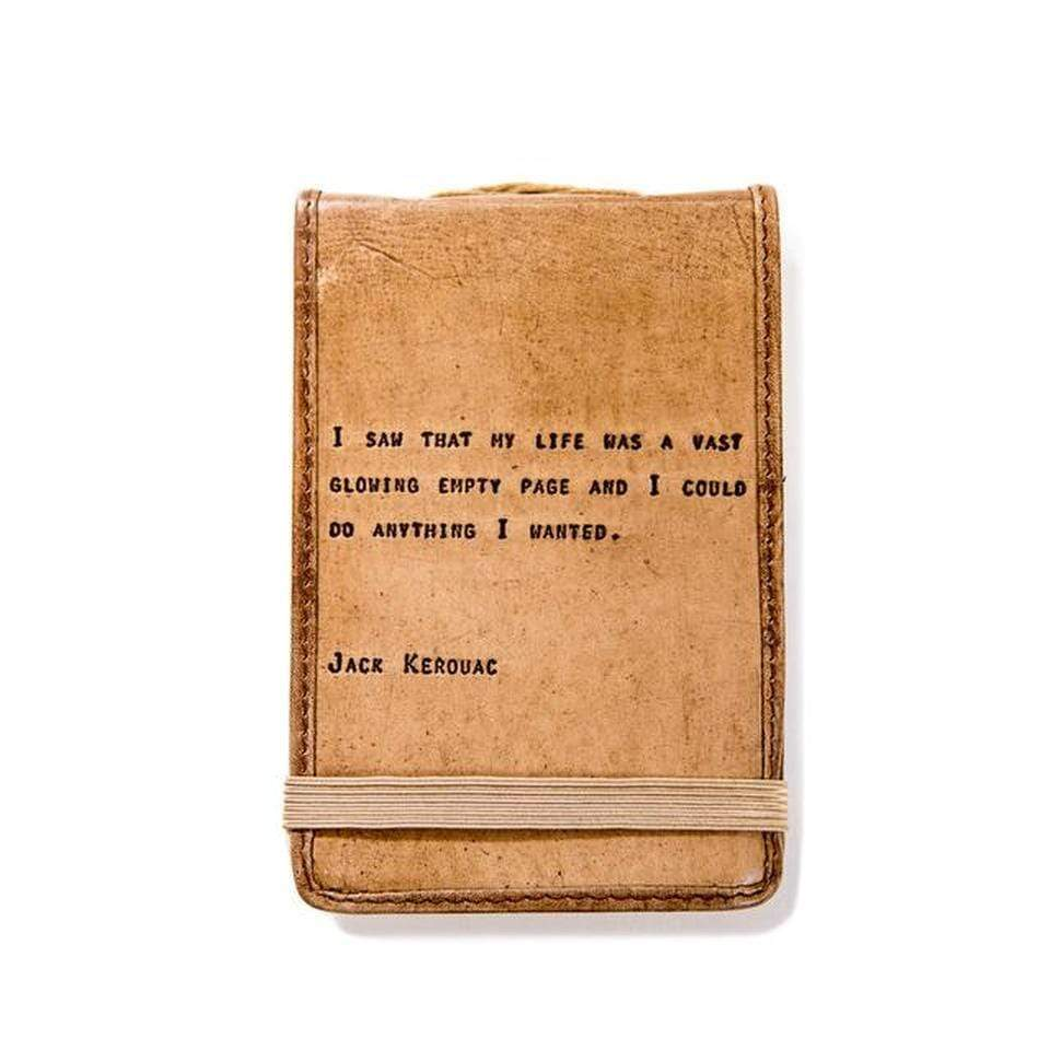 Jack Kerouac Mini Leather Journal Sugarboo & Co Books & Journals