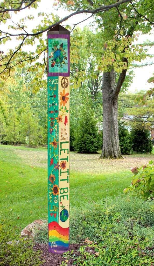 Let It Be 6' Art Pole Studio M Garden/Outdoors