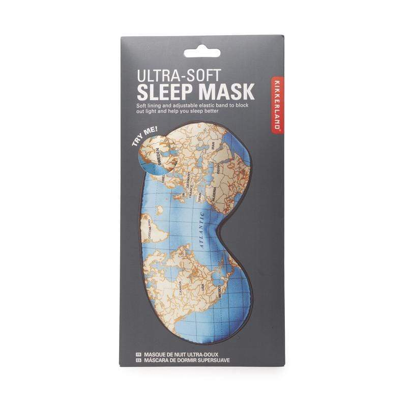 Maps Ultra-Soft Sleep Mask Kikkerland Designs Bath & Body