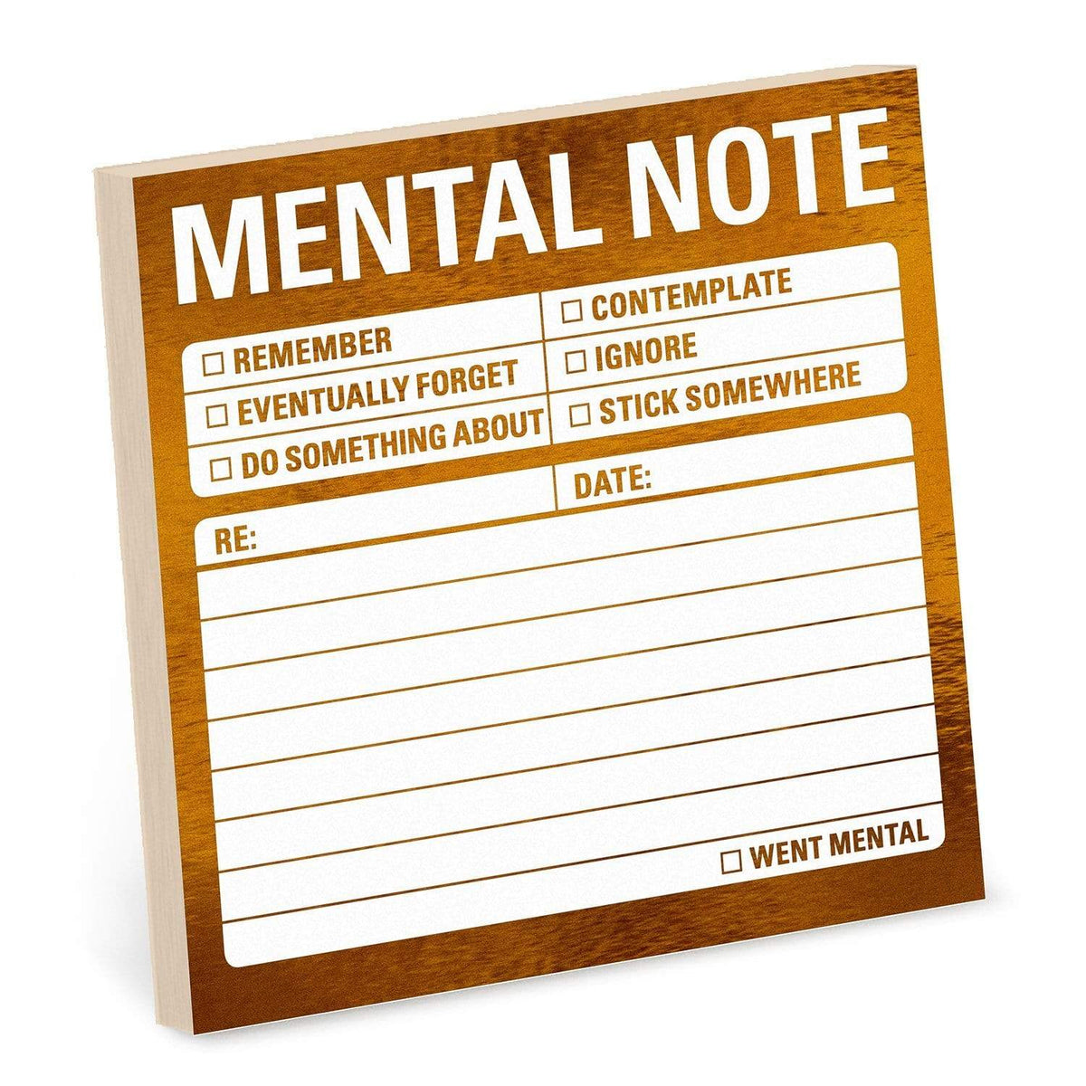 Mental Note Metallic Sticky Note Knock Knock Paper Goods