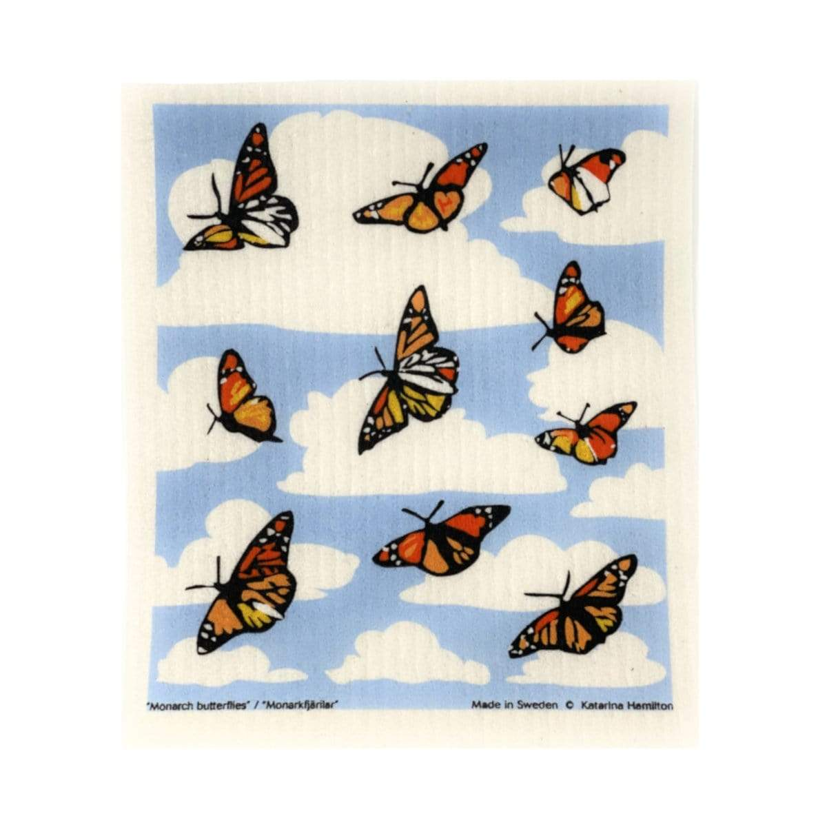 Monarch Butterfly Swedish Dishcloth Cose Nuove Household Stuff