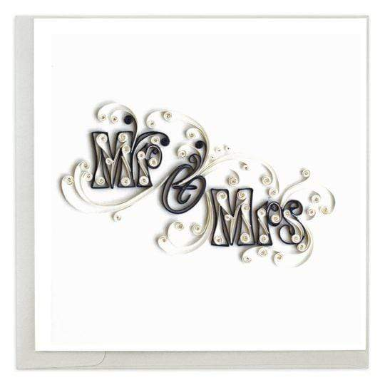Mr & Mrs Wedding Quilling Card Quilling Card Llc Cards
