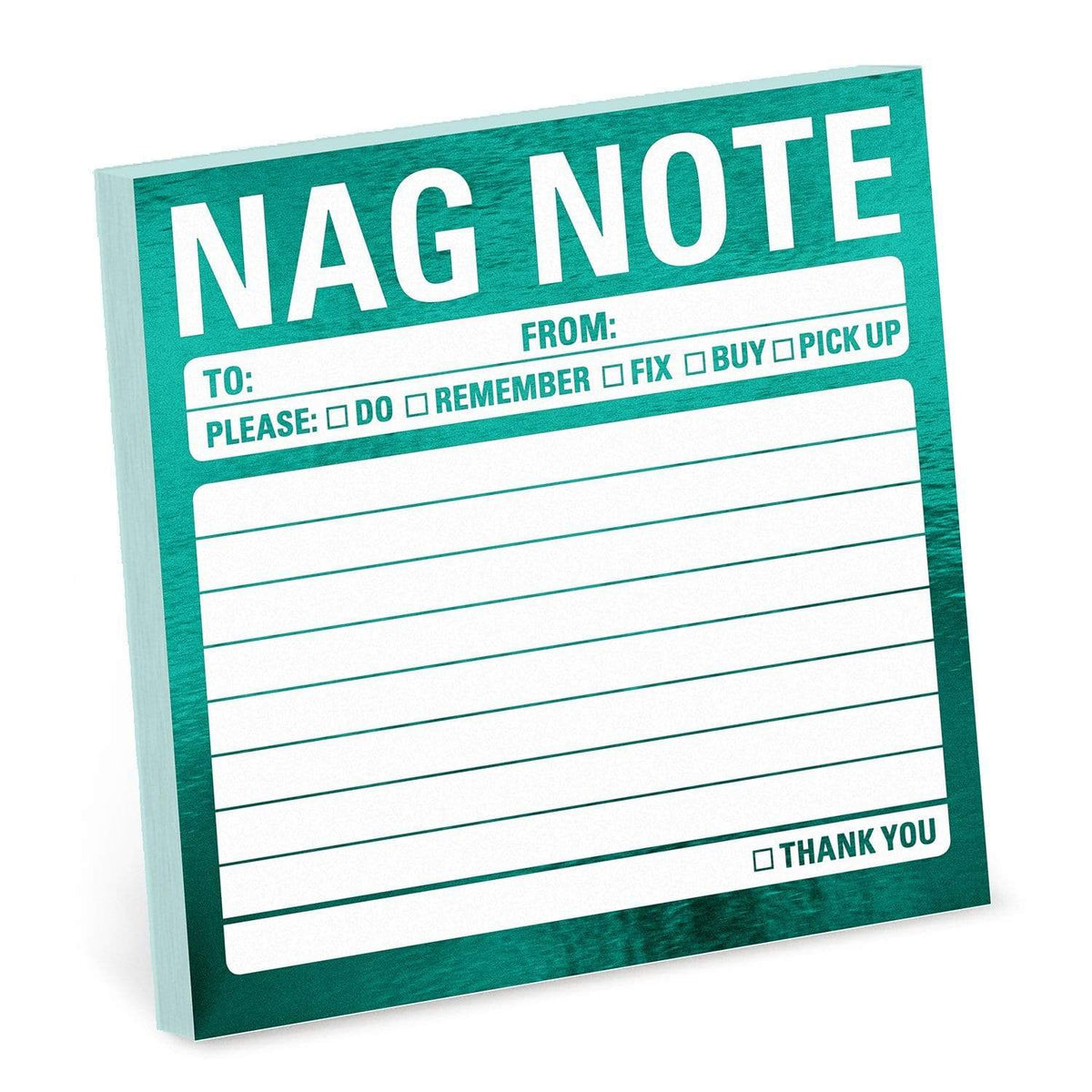 Nag Note Metallic Sticky Note Knock Knock Paper Goods
