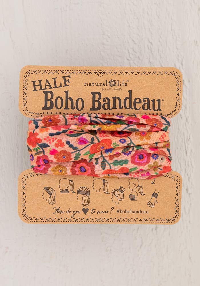 Natural Life Boho Half Bandeau - Blush Floral Natural Life Accessories