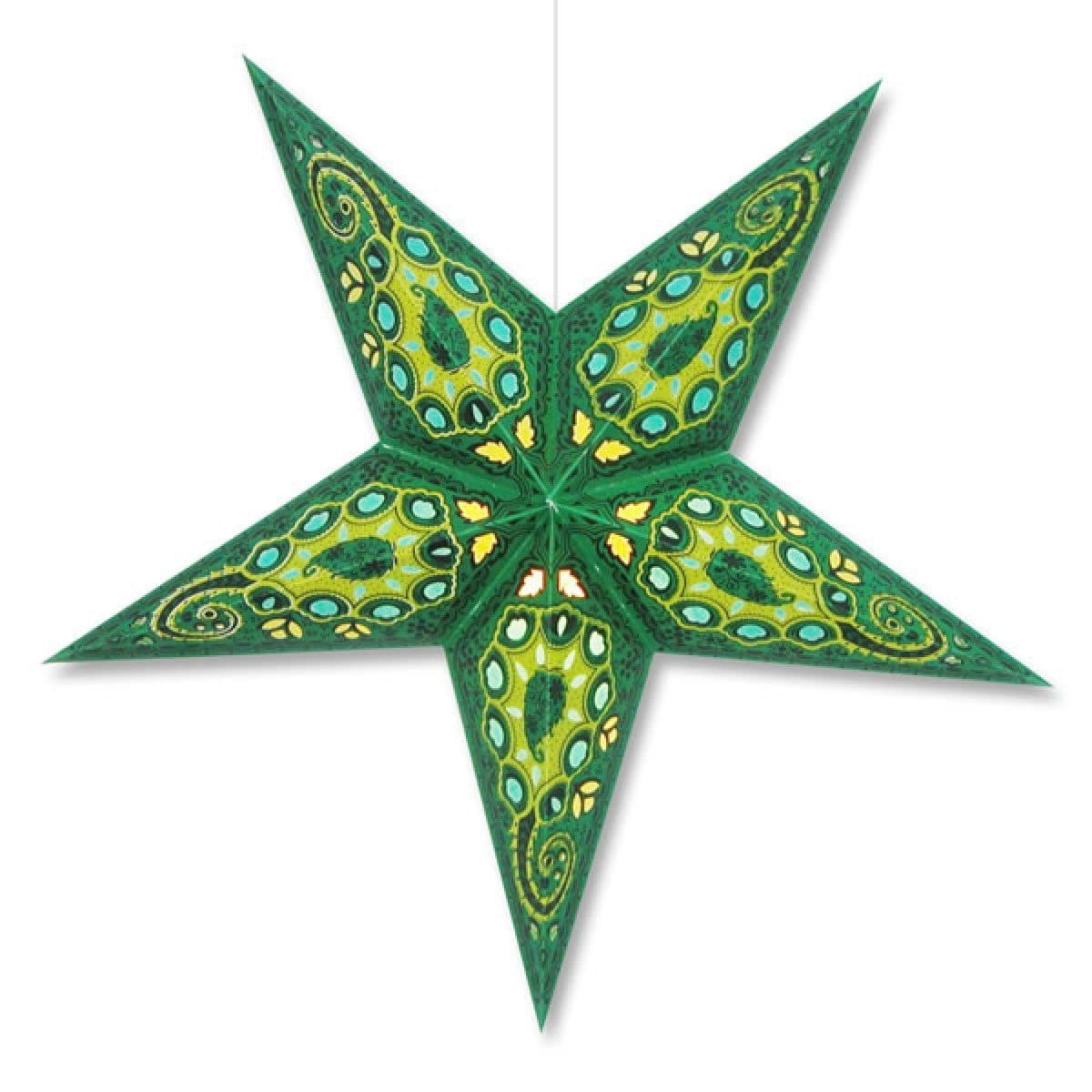 Nebula Hanging Star Lantern - Green Whirled Planet Home Decor