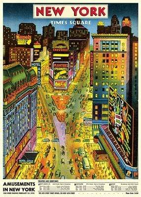 New York Times Square Art Paper Cavallini Papers Wall Decor