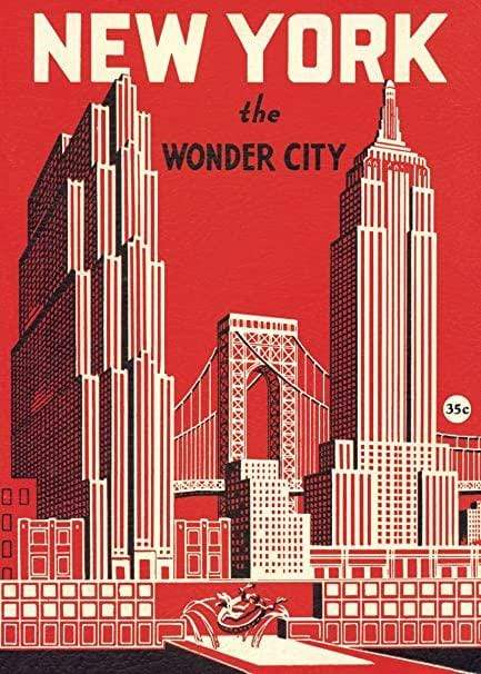 New York Wonder City Art Paper Cavallini Papers Wall Decor