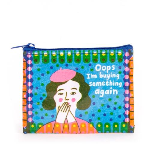 Oops I'm Buying Something Again Coin Purse Blue Q Antiques