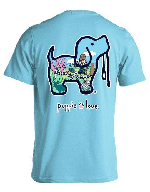 Pastel Pennsylvania Pup Short Sleeve Tee Puppie Love Clothing