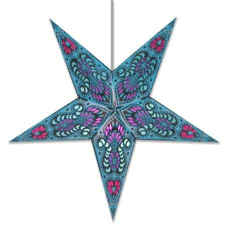 Peacock Hanging Star Lantern - Blue Whirled Planet Home Decor