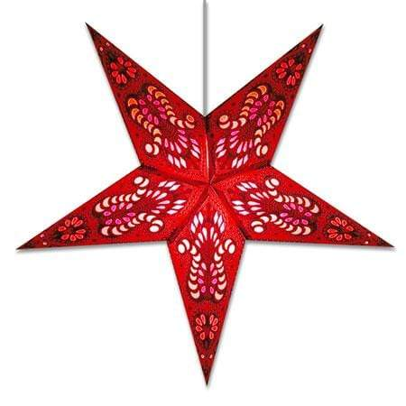 Peacock Hanging Star Lantern - Red Whirled Planet Home Decor