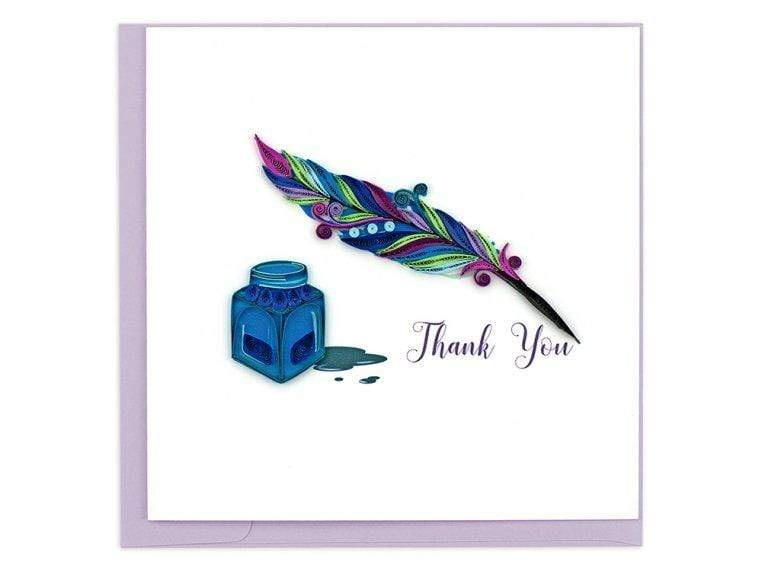 Pen & Quill Thank You Quilling Card Quilling Card Llc Cards