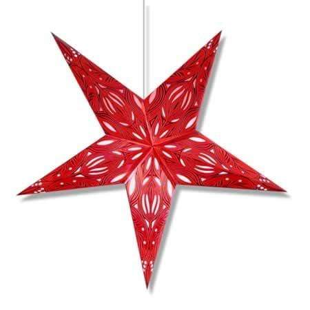 Phoenix Hanging Star Lantern - Red Whirled Planet Home Decor