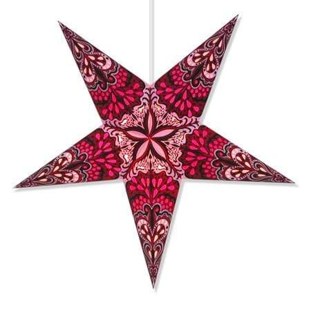 Purple Flower Hanging Star Lantern Whirled Planet Home Decor