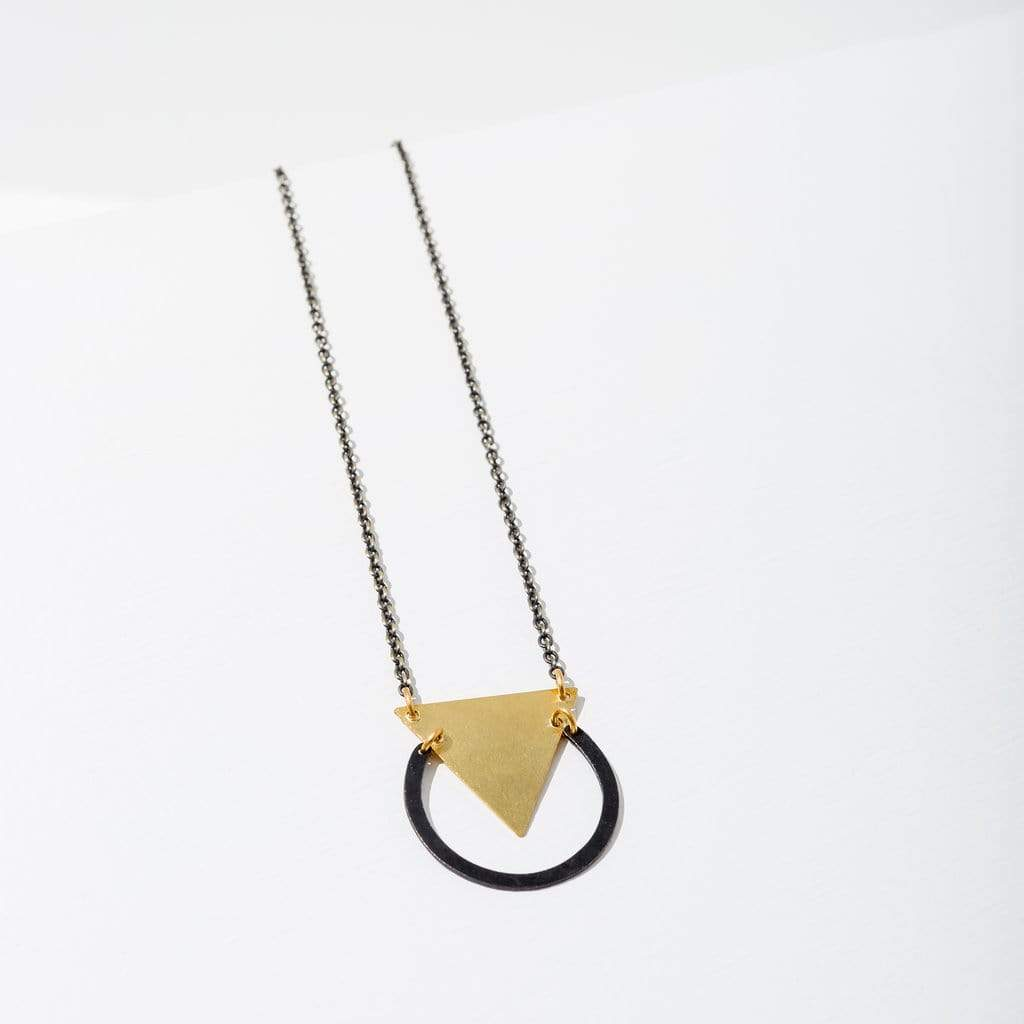 Reuleaux Necklace - Black Larissa Loden Jewelry