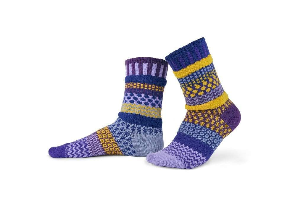 Solmate Crew Socks - Purple Rain Solmate Socks Clothing