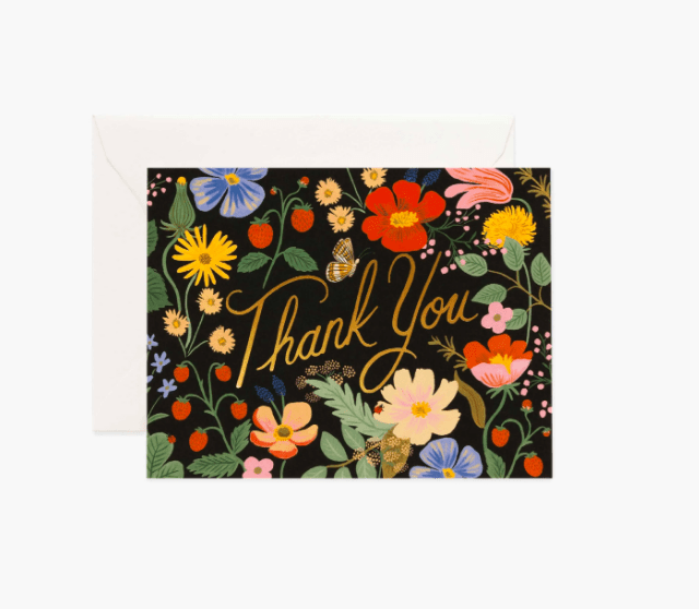 Strawberry Fields Thank You Card Rifle Paper Co Cards