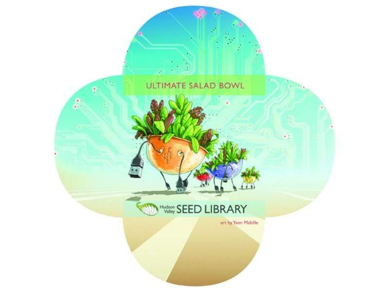 Ultimate Salad Bowl Seeds Art Pack Hudson Valley Seed Library Garden/Outdoors