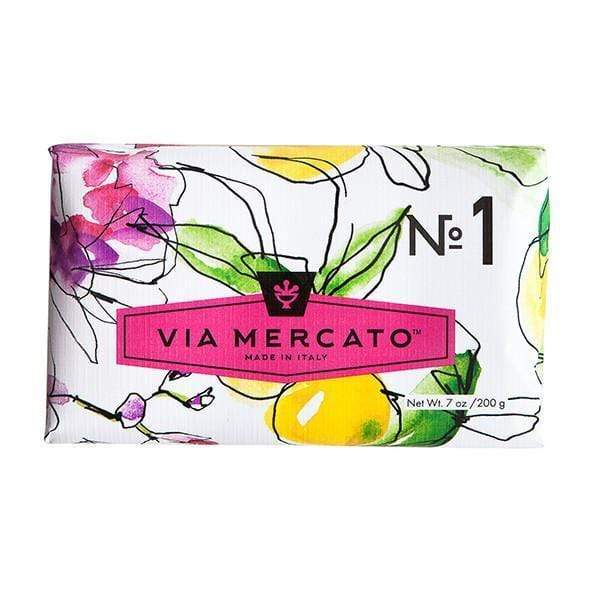 Via Mercato Soap  #1 - Bergamot, Patchouli & Rosewood 7 oz. European Soaps Bath & Body