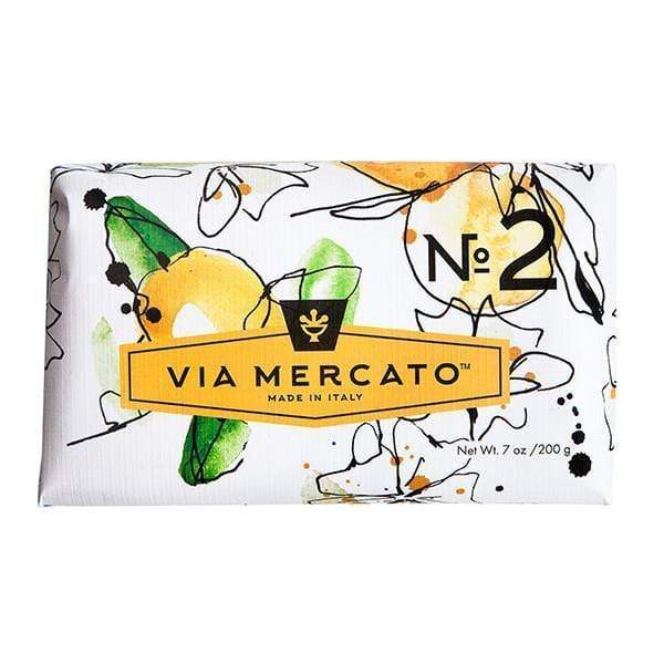 Via Mercato Soap #2 - Green Tea and White Musk 7oz. European Soaps Bath & Body