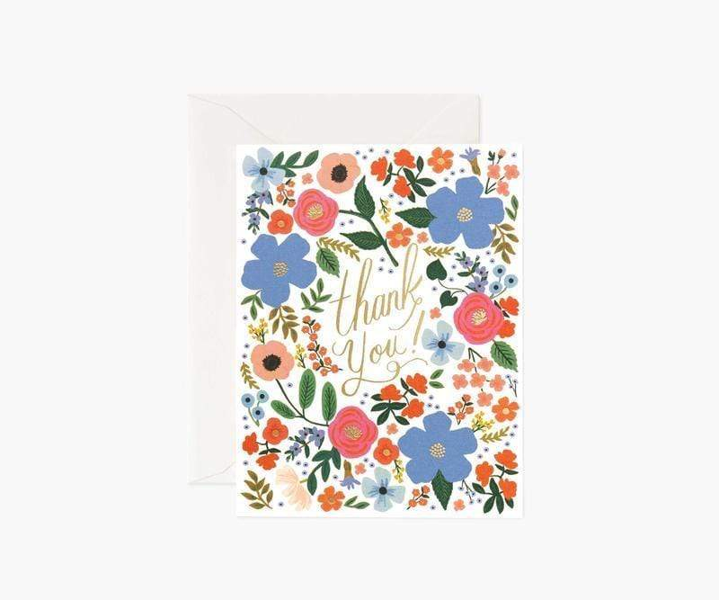 Wild Rose Thank You Card Rifle Paper Co Cards