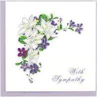 With Syphathy Flowers Quilling Card Quilling Card Llc Cards