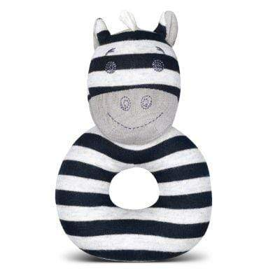 Ziggy Zebra Ring Rattle Apple Park Baby