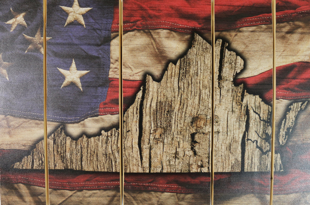 American Wood Flag (Choose Your State) Stock Pallet