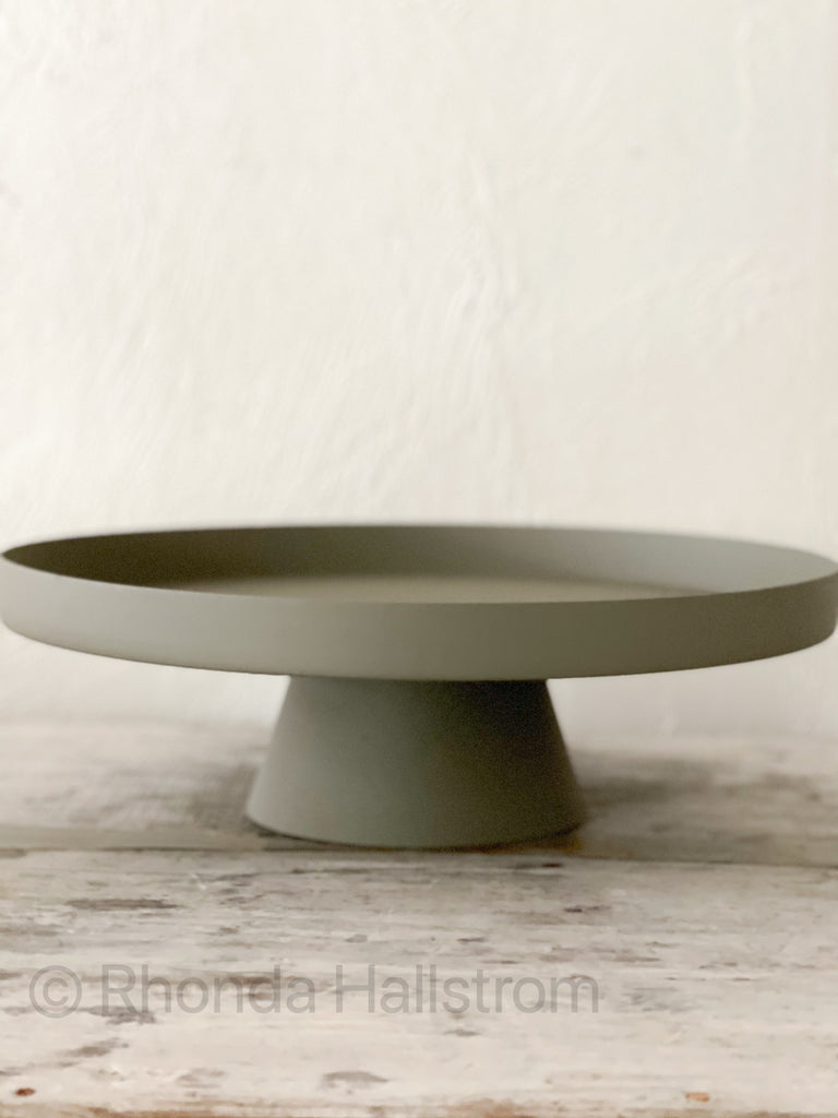 Soft Green Metal Cake Stand